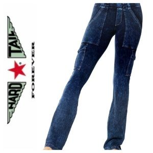 ➡️Hard Tail 6 Pocket Cargo Bootcut Pull On Size XS